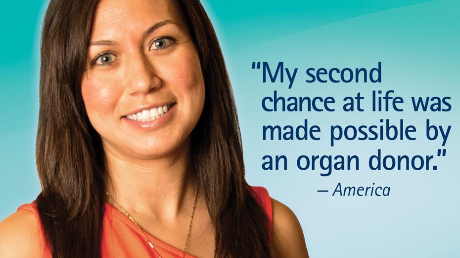 Mi segunda oportunidad en la vida fue posible gracias a un donante de órganos. - America
