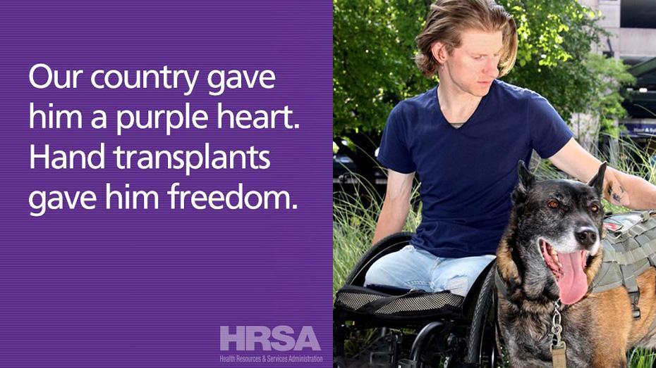 Nuestro país le entregó un corazón morado. Un trasplante de manos le entregó su libertad.
