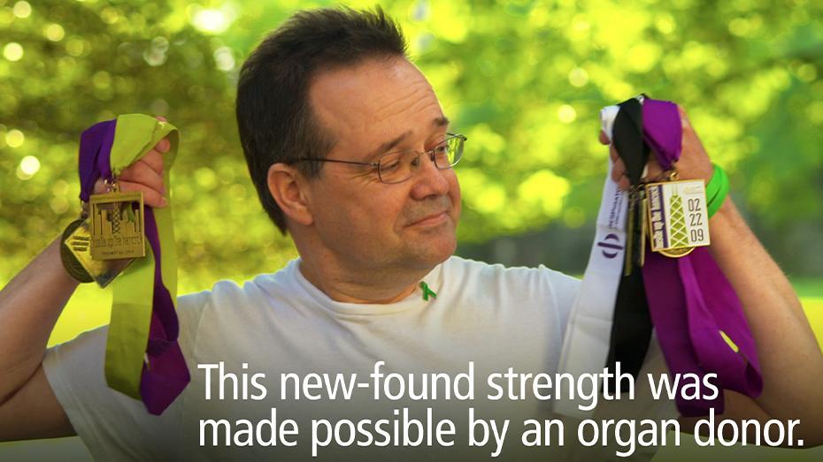 Esta fortaleza nueva que encontré fue gracias a un donante de órganos.