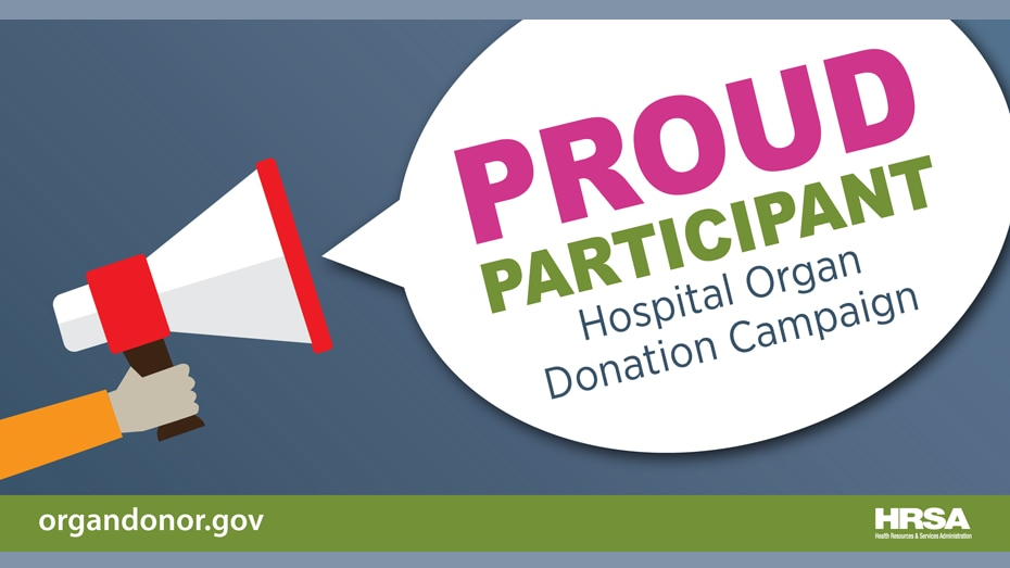 Orgulloso participante. Campaña de donación de órganos en hospitales