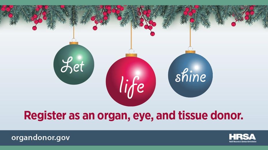 inscríbase como donante de órganos, córnea y tejido.
