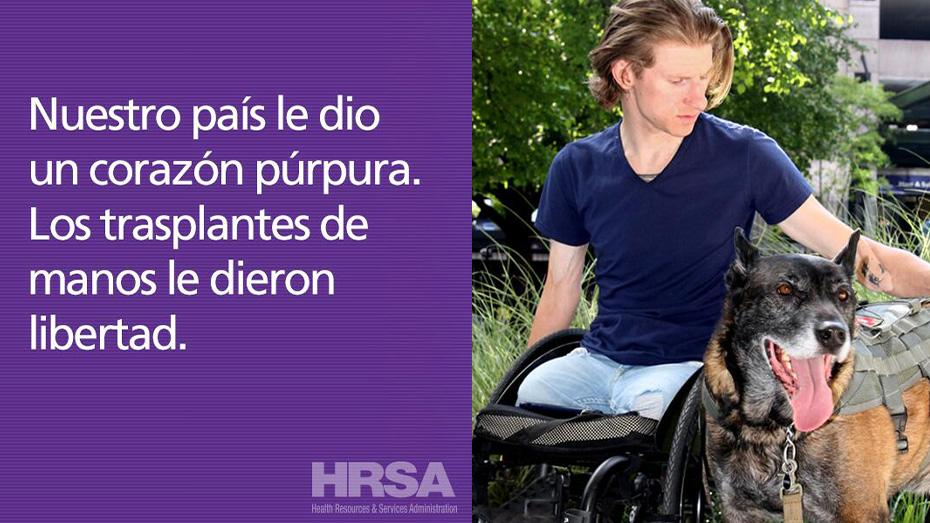 Nuestro pais le dio un corazon purpura. Los trasplantes de manos le dieron libertad.